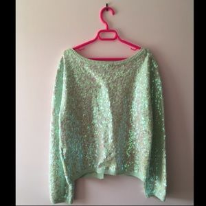 Iridescent Ultra-Glittery Sequined Sweater